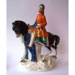 Staffordshire figure of Omah Pacha