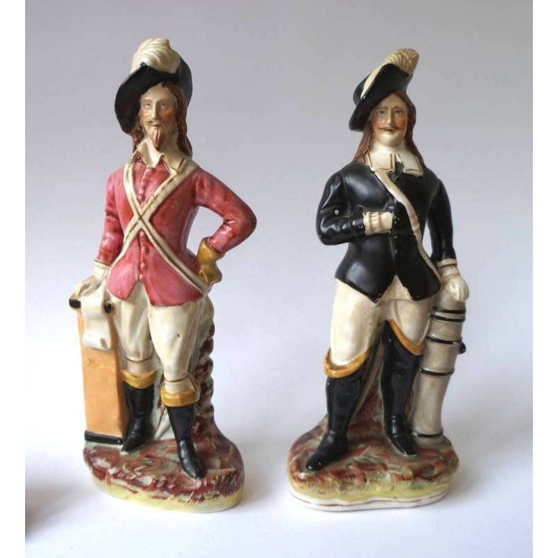 Charles I and Oliver Cromwell