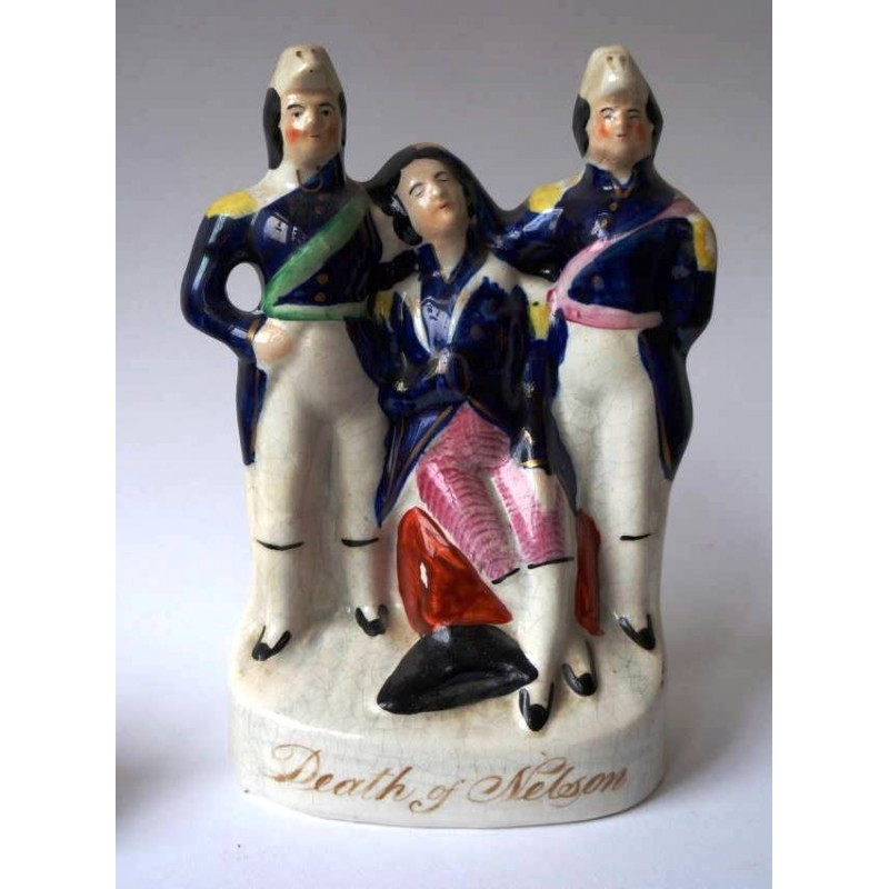 Staffordshire figure of Death of Nelson