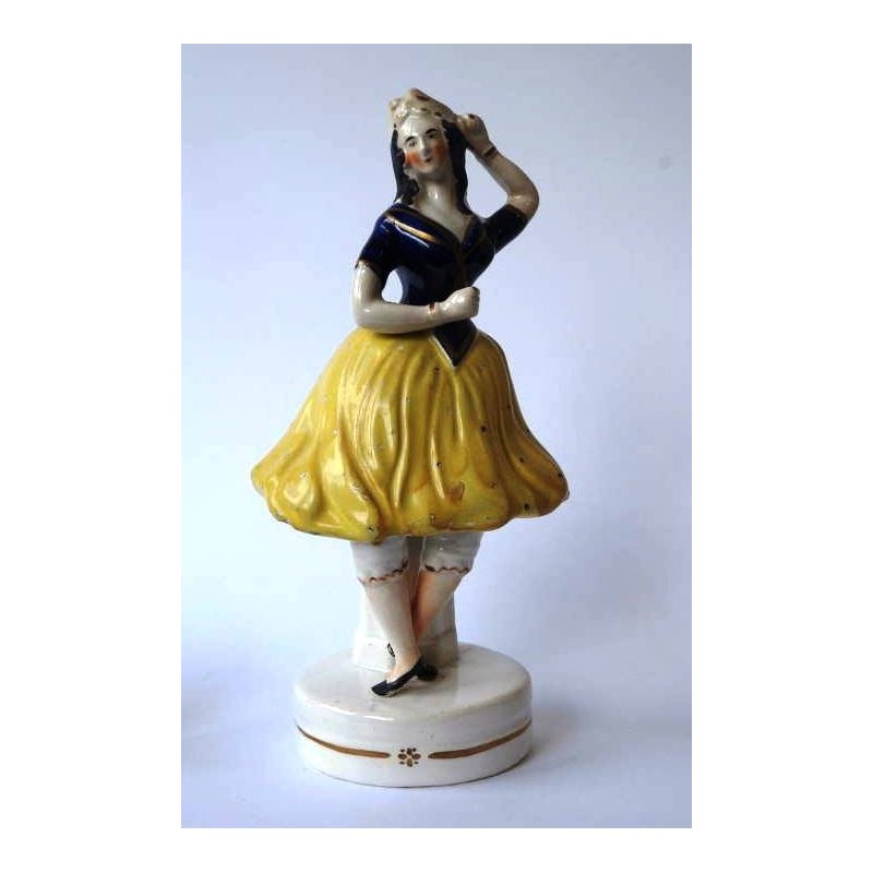 Staffordshire figure of a Female Dancer