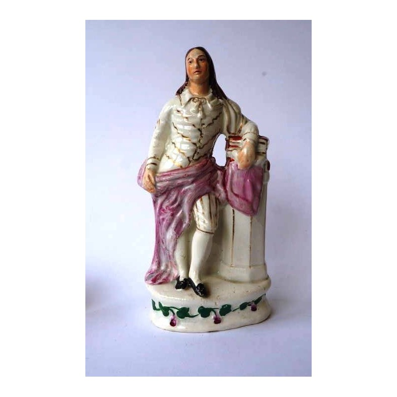 Staffordshire figure of Milton