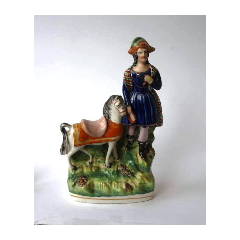 Staffordshire Pottery Figure with pony