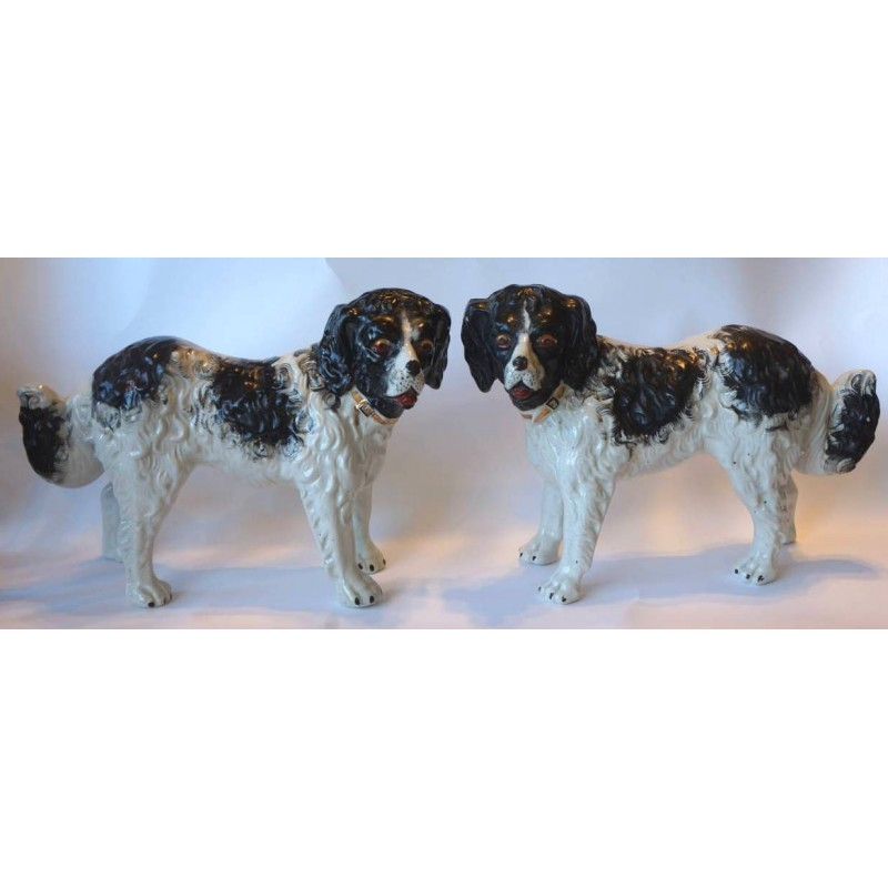 Staffordshire Pottery Large dogs