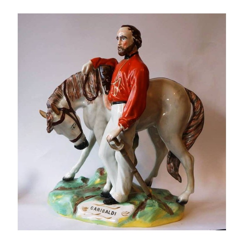 Staffordshire figure of Garibaldi, large
