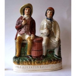 Staffordshire figure of Tam O'Shanter and Souter Johnny