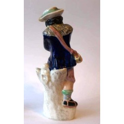 Fine figure of Staffordshire Pottery Ice Skater