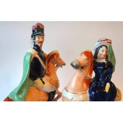 Pair of Staffordshire figures of Napoleon III and Empress of France