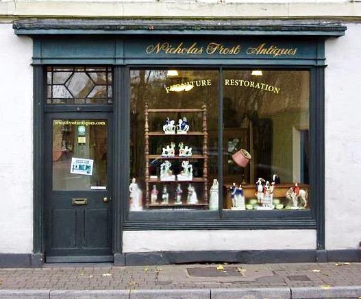 Frost Antiques' shopfront